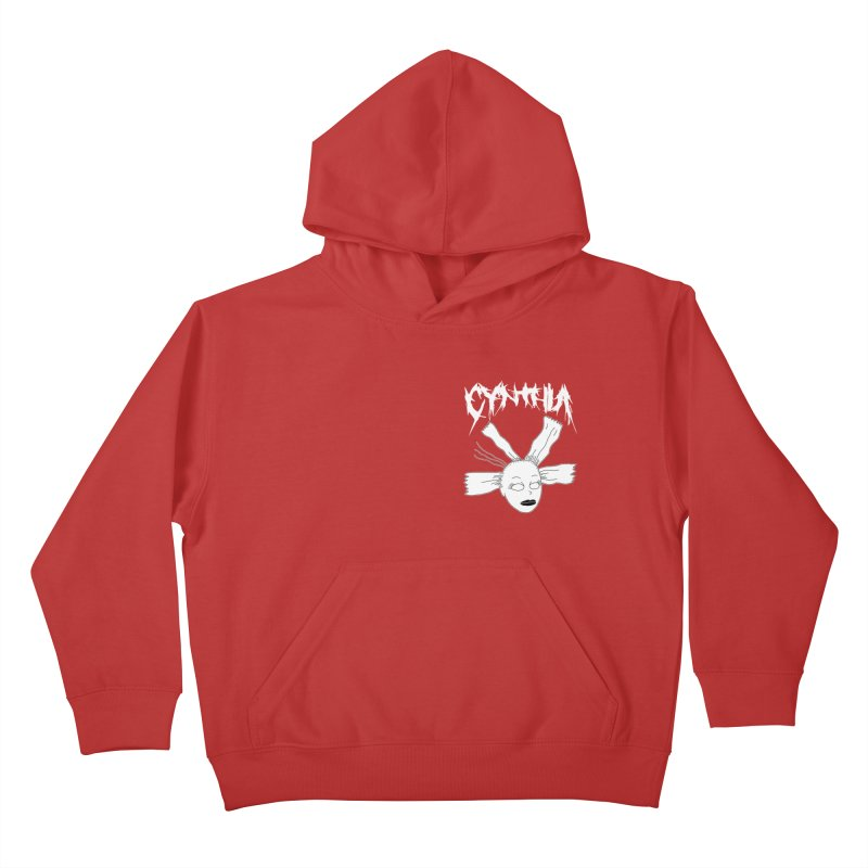 Cynthia chest print Kids Pullover Hoody by ZOMBIETEETH