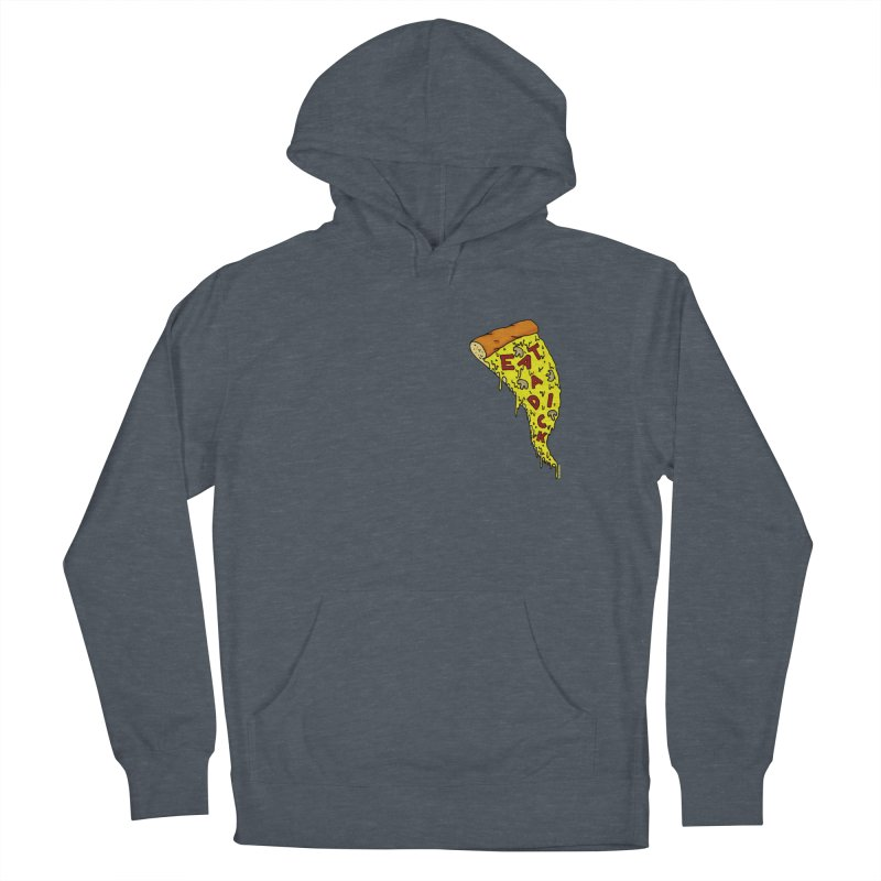 Eat a Dick chest print Men's French Terry Pullover Hoody by ZOMBIETEETH
