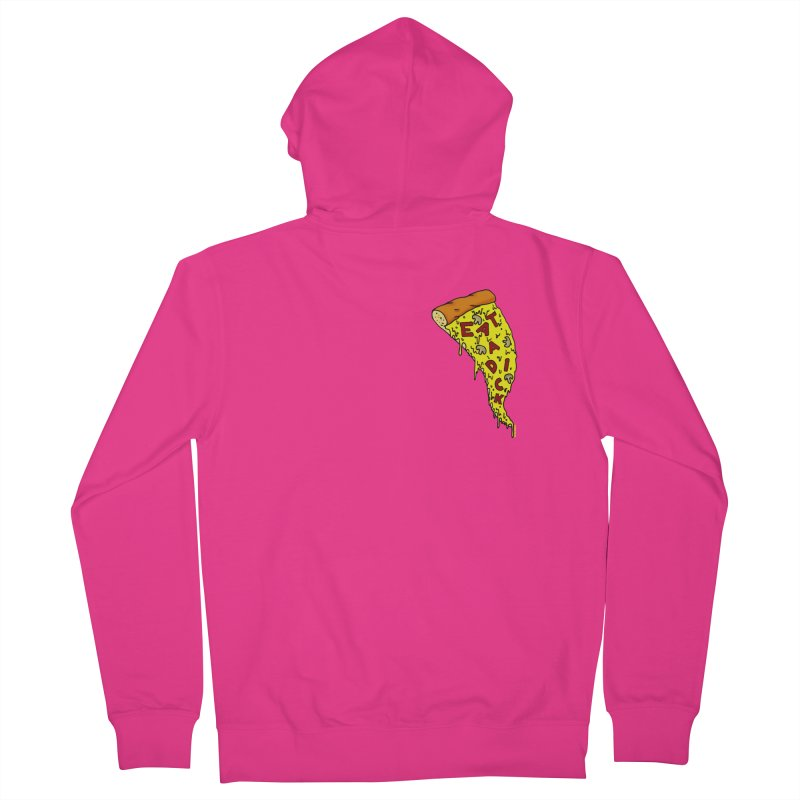Eat a Dick chest print Men's French Terry Zip-Up Hoody by ZOMBIETEETH