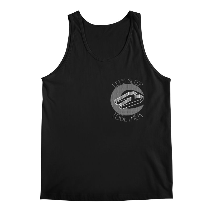 Lets Sleep Together chest print Men's Regular Tank by ZOMBIETEETH