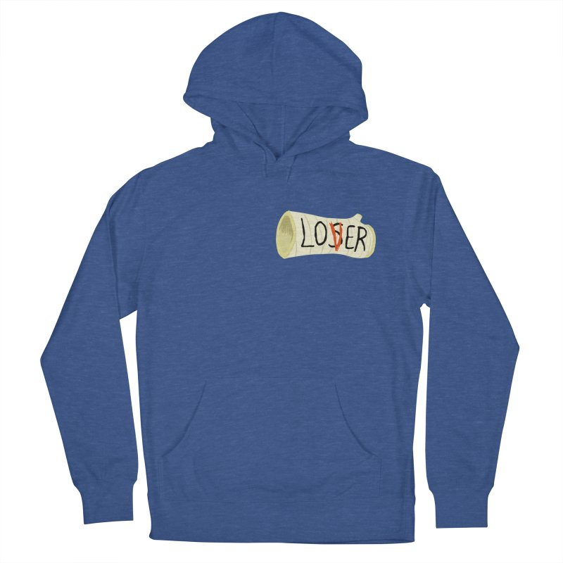 Losers club chest print Men's French Terry Pullover Hoody by ZOMBIETEETH