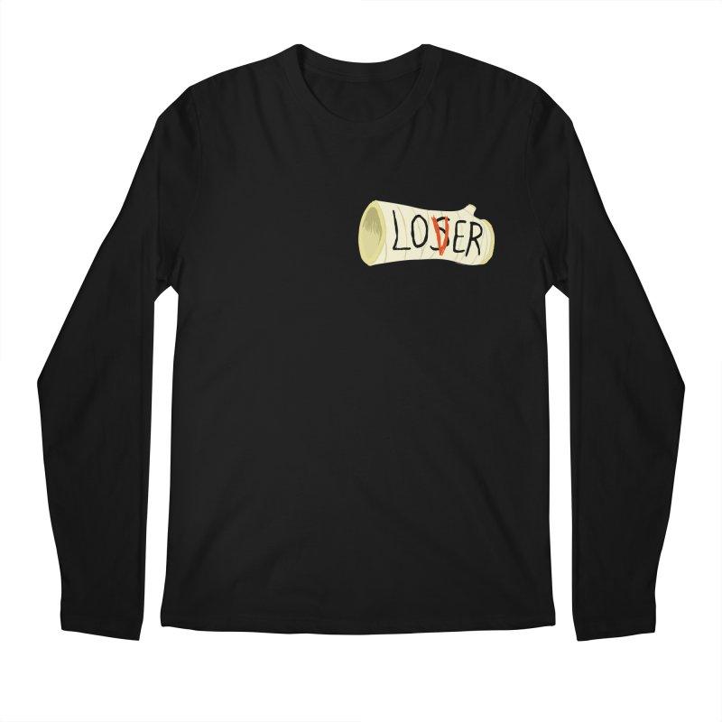 Losers club chest print Men's Regular Longsleeve T-Shirt by ZOMBIETEETH