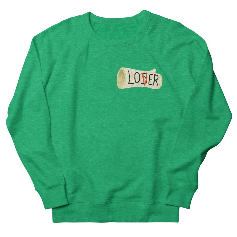 Losers club chest print Men's French Terry Sweatshirt by ZOMBIETEETH
