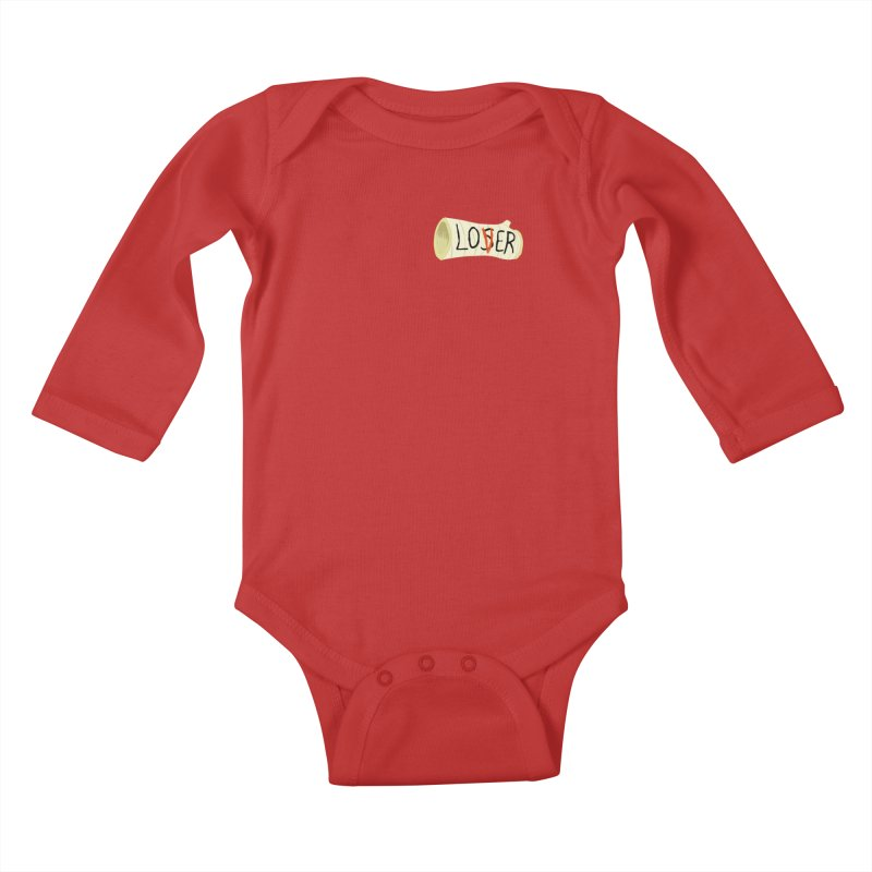 Losers club chest print Kids Baby Longsleeve Bodysuit by ZOMBIETEETH