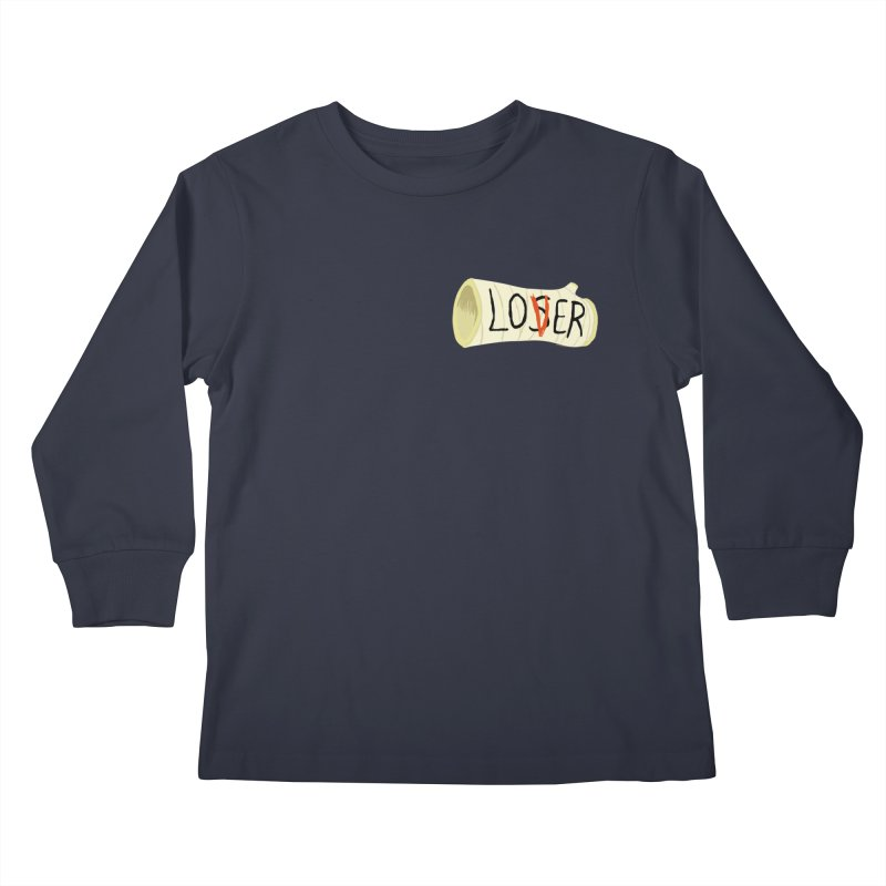 Losers club chest print Kids Longsleeve T-Shirt by ZOMBIETEETH