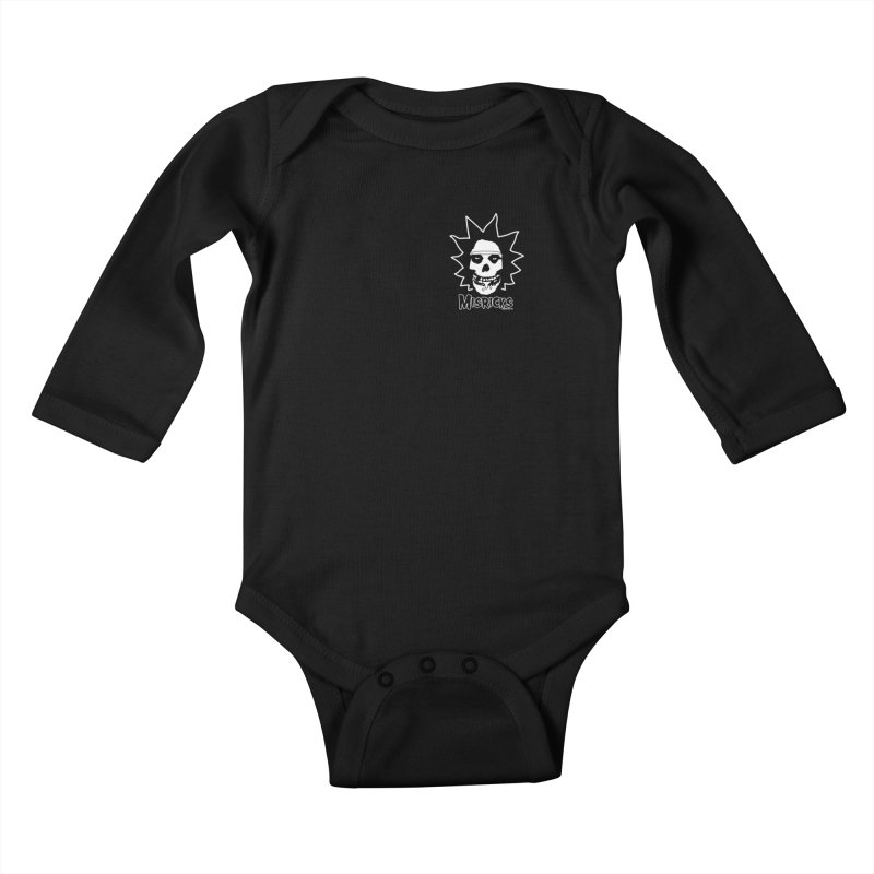 Misricks chest print Kids Baby Longsleeve Bodysuit by ZOMBIETEETH