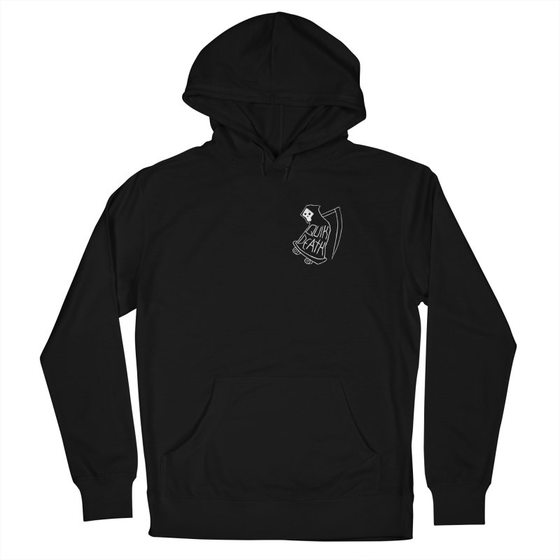 Quik Death chest print Men's Pullover Hoody by ZOMBIETEETH