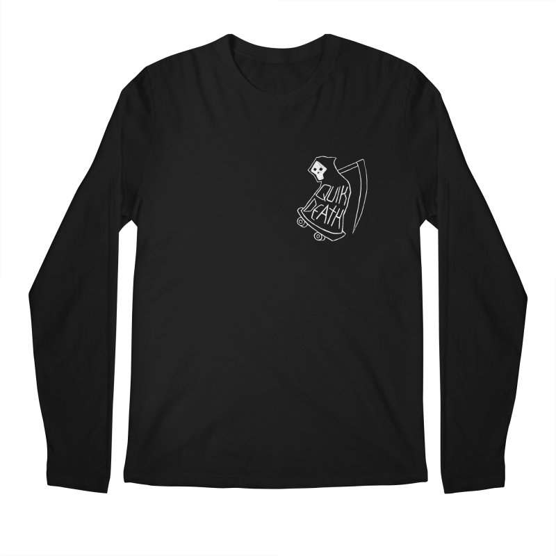 Quik Death chest print Men's Longsleeve T-Shirt by ZOMBIETEETH