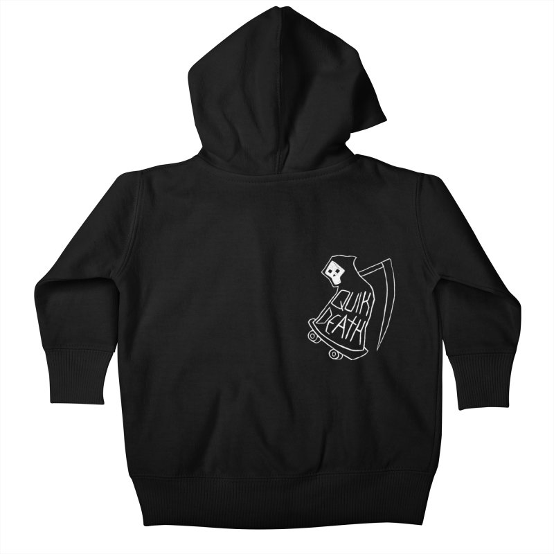 Quik Death chest print Kids Baby Zip-Up Hoody by ZOMBIETEETH