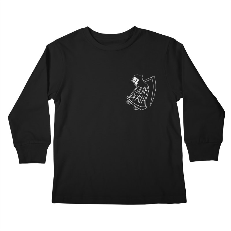 Quik Death chest print Kids Longsleeve T-Shirt by ZOMBIETEETH