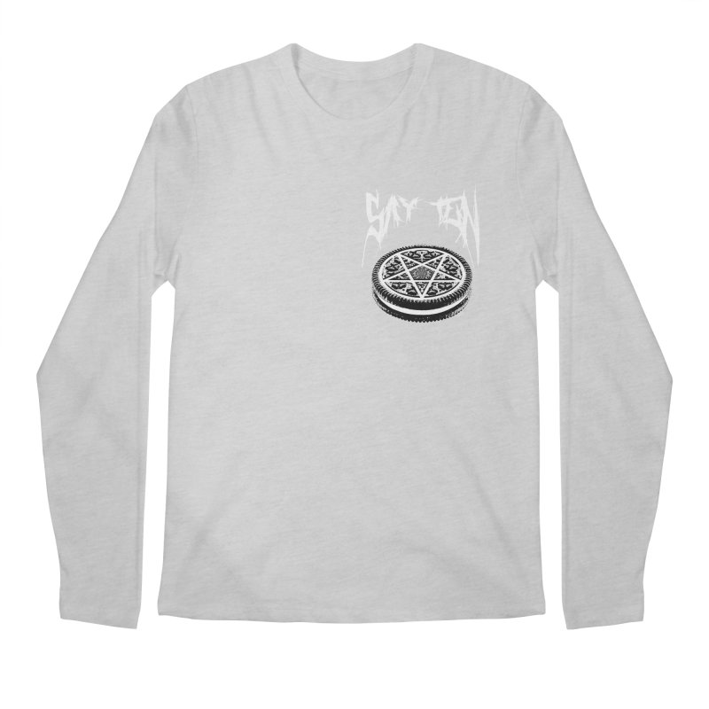 Say Ten chest print Men's Regular Longsleeve T-Shirt by ZOMBIETEETH