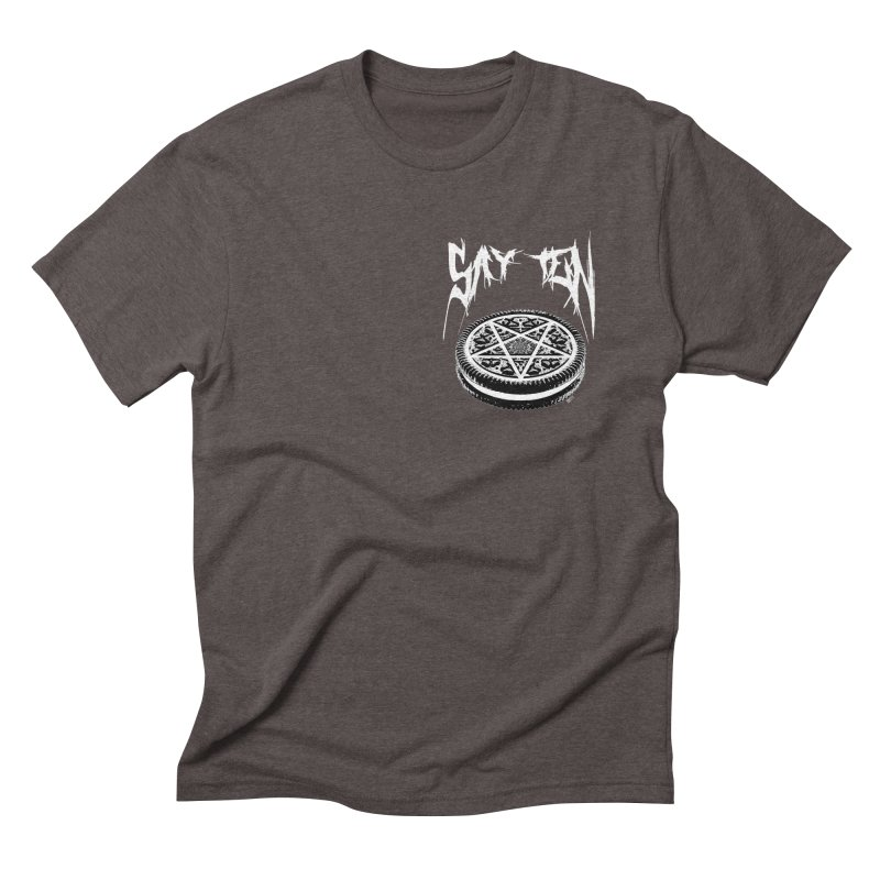 Say Ten chest print Men's Triblend T-Shirt by ZOMBIETEETH