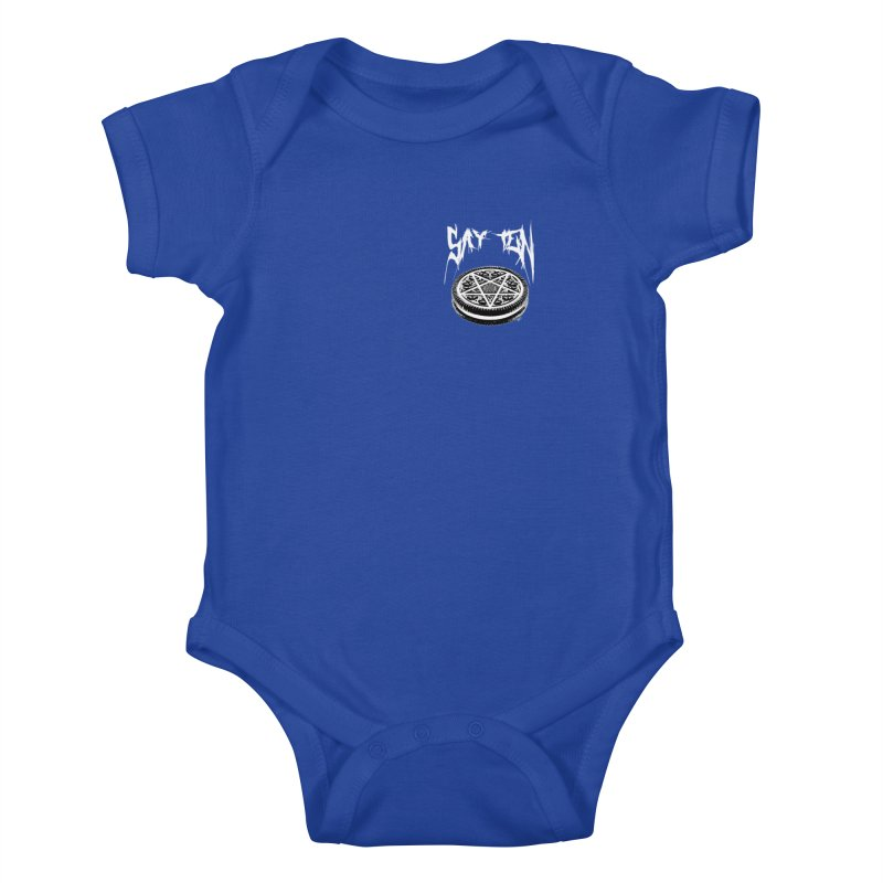 Say Ten chest print Kids Baby Bodysuit by ZOMBIETEETH