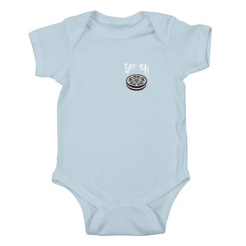 Say Ten chest print Kids Baby Bodysuit by ZOMBIETEETH