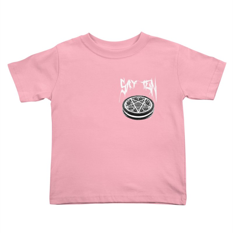 Say Ten chest print Kids Toddler T-Shirt by ZOMBIETEETH
