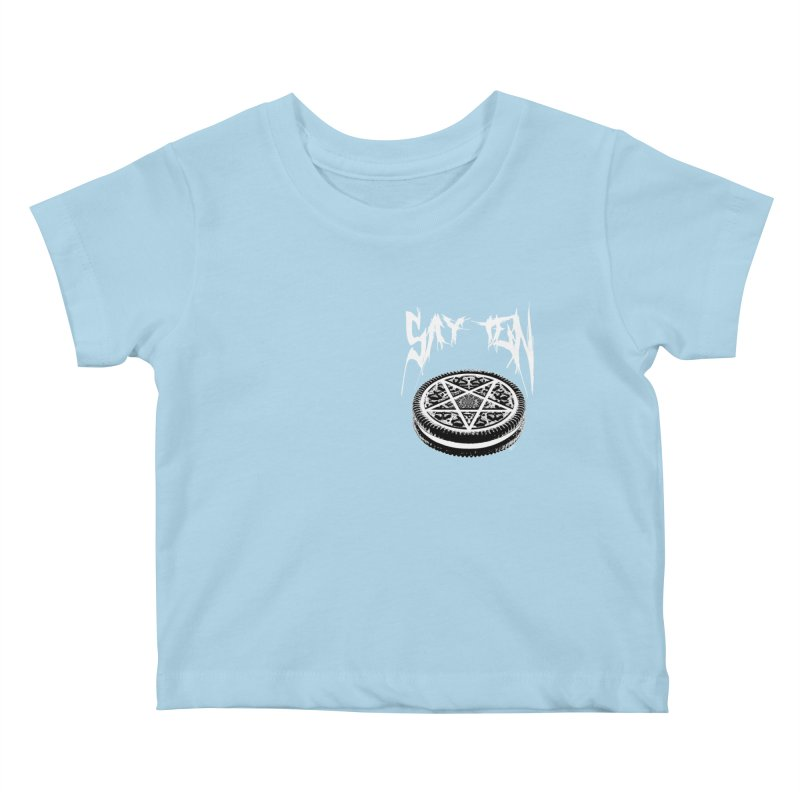 Say Ten chest print Kids Baby T-Shirt by ZOMBIETEETH
