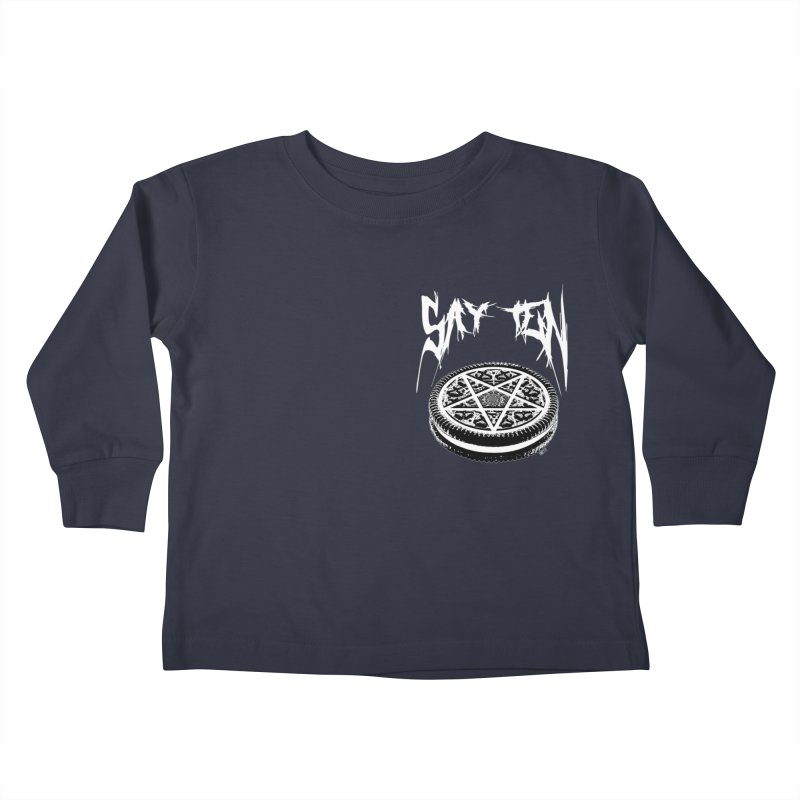 Say Ten chest print Kids Toddler Longsleeve T-Shirt by ZOMBIETEETH