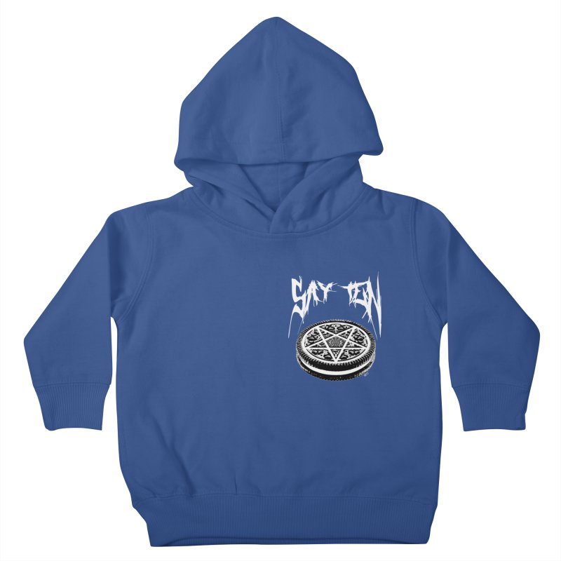 Say Ten chest print Kids Toddler Pullover Hoody by ZOMBIETEETH