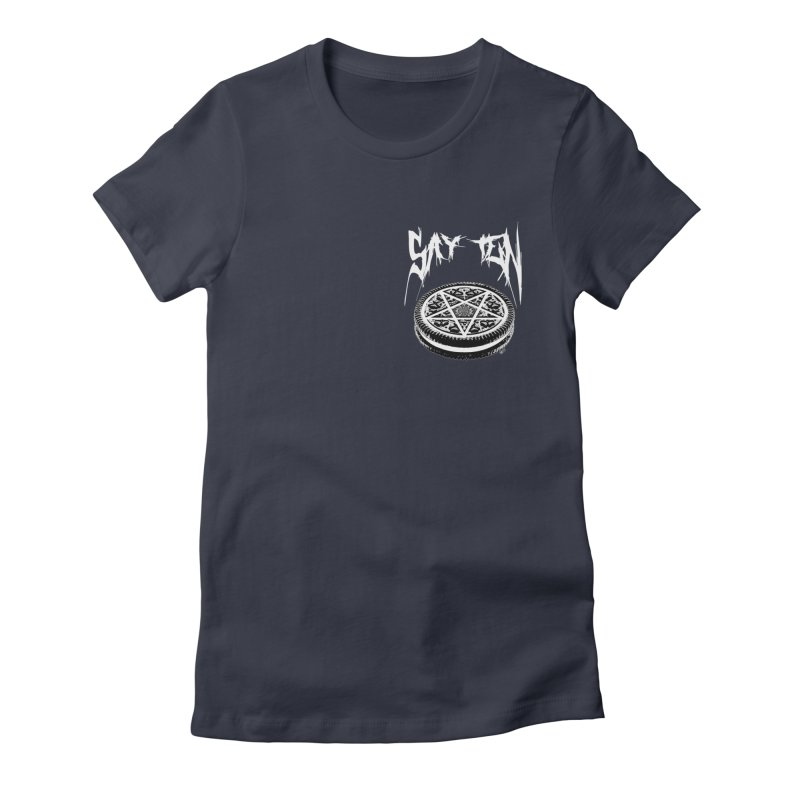 Say Ten chest print Women's Fitted T-Shirt by ZOMBIETEETH