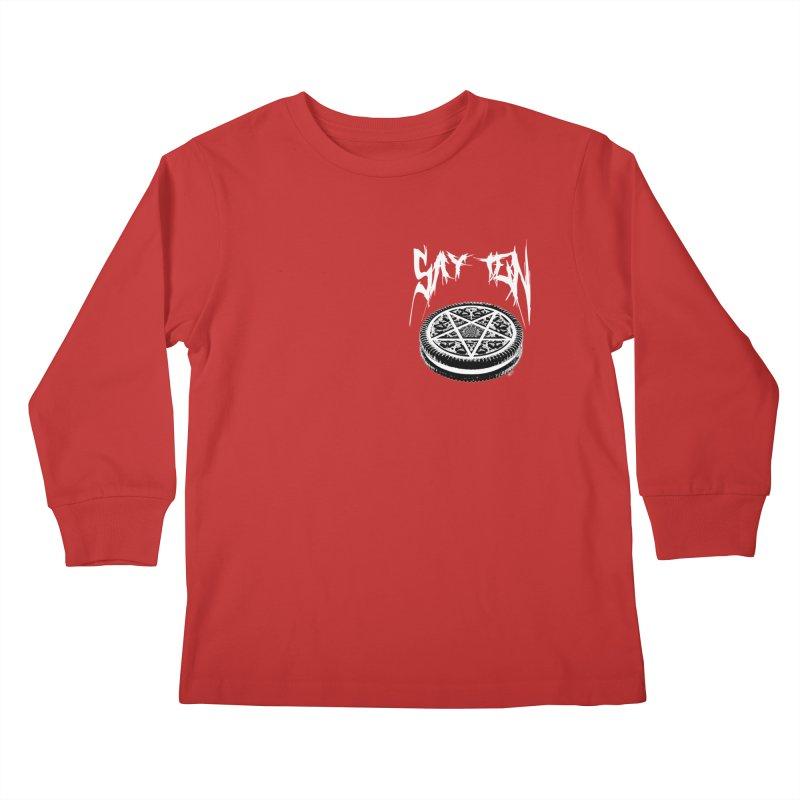 Say Ten chest print Kids Longsleeve T-Shirt by ZOMBIETEETH