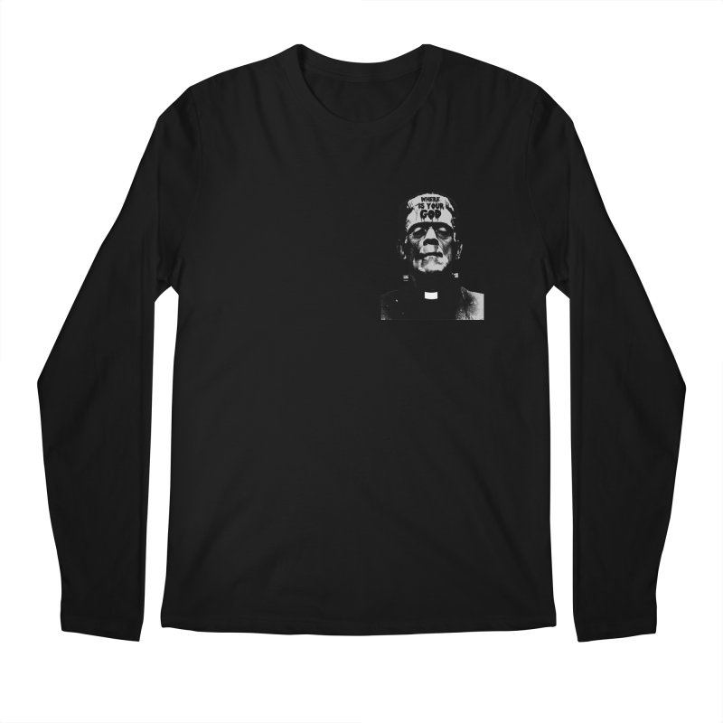 Where is your God chest print Men's Regular Longsleeve T-Shirt by ZOMBIETEETH