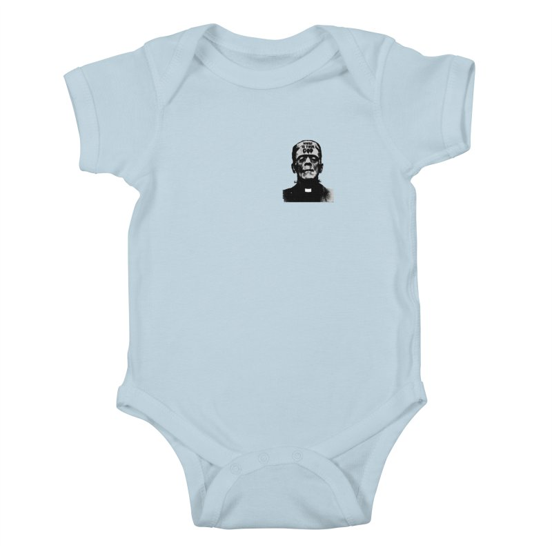 Where is your God chest print Kids Baby Bodysuit by ZOMBIETEETH