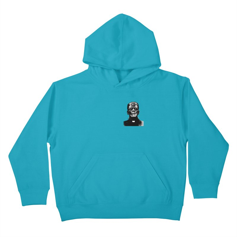 Where is your God chest print Kids Pullover Hoody by ZOMBIETEETH