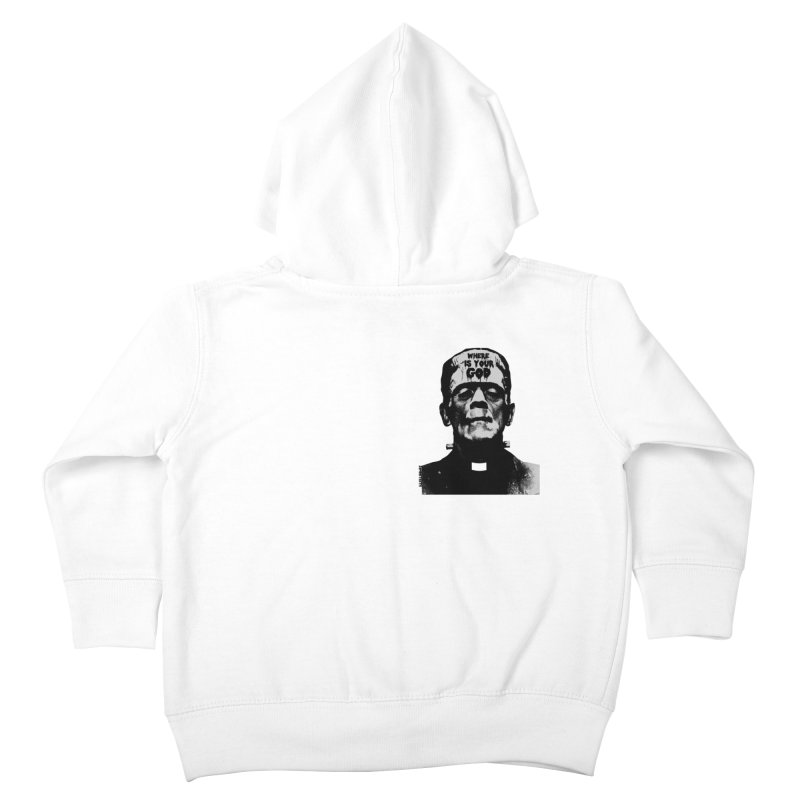 Where is your God chest print Kids Toddler Zip-Up Hoody by ZOMBIETEETH