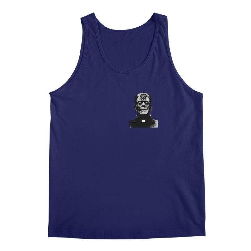 Where is your God chest print Men's Regular Tank by ZOMBIETEETH
