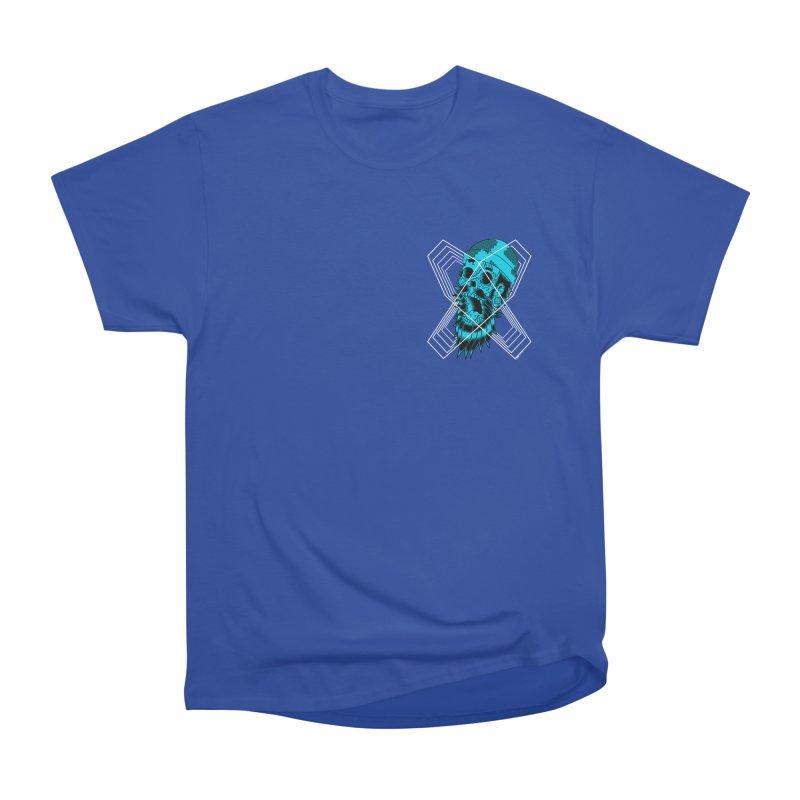 Zombeard 01 chest print Men's Heavyweight T-Shirt by ZOMBIETEETH