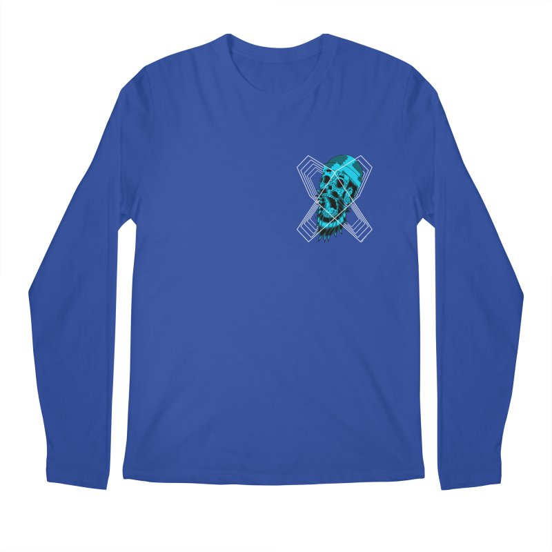 Zombeard 01 chest print Men's Regular Longsleeve T-Shirt by ZOMBIETEETH