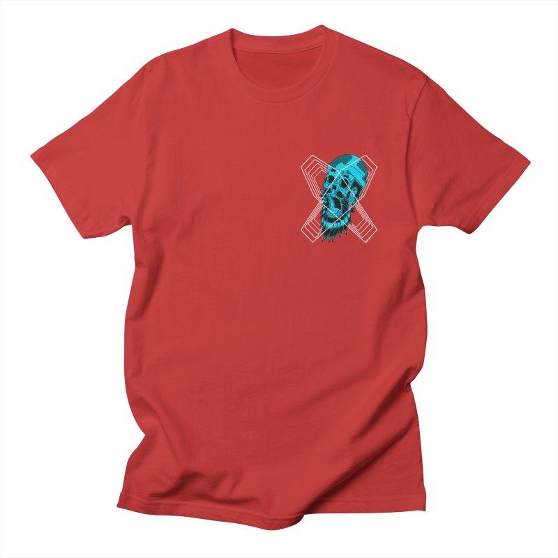 Zombeard 01 chest print Men's Regular T-Shirt by ZOMBIETEETH