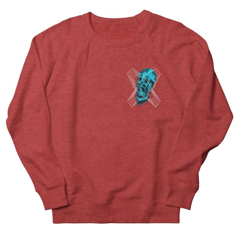 Zombeard 01 chest print Women's French Terry Sweatshirt by ZOMBIETEETH