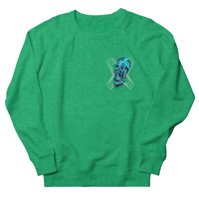Zombeard 01 chest print Men's French Terry Sweatshirt by ZOMBIETEETH