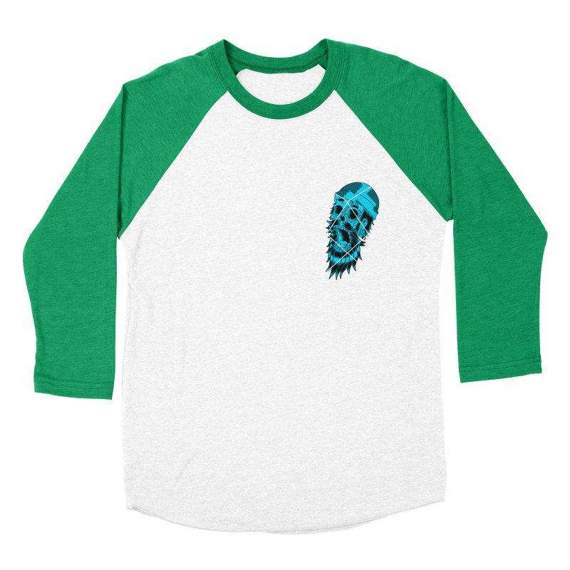 Zombeard 01 chest print Women's Baseball Triblend Longsleeve T-Shirt by ZOMBIETEETH