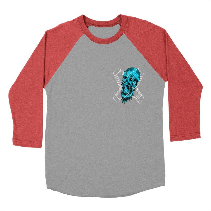 Zombeard 01 chest print Men's Baseball Triblend Longsleeve T-Shirt by ZOMBIETEETH