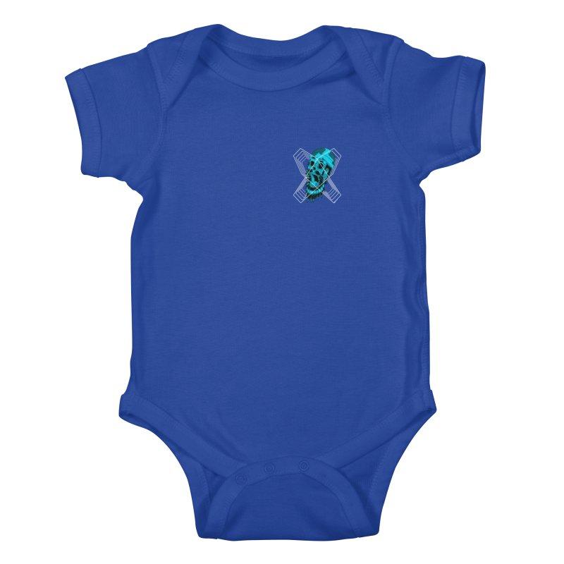 Zombeard 01 chest print Kids Baby Bodysuit by ZOMBIETEETH