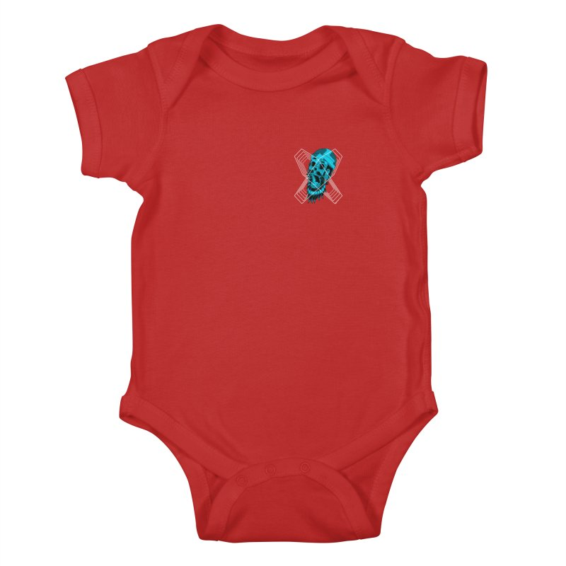 Zombeard 01 chest print Kids Baby Bodysuit by ZOMBIETEETH