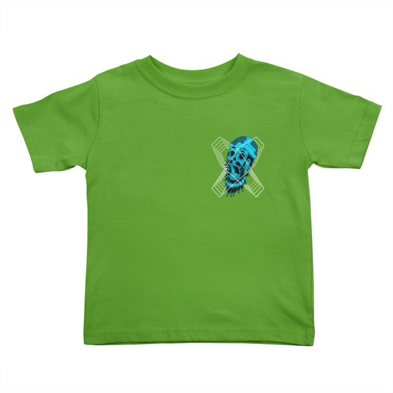 Zombeard 01 chest print Kids Toddler T-Shirt by ZOMBIETEETH
