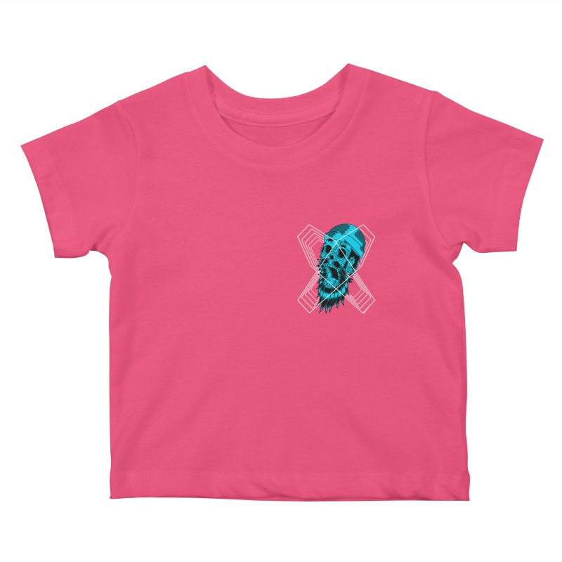 Zombeard 01 chest print Kids Baby T-Shirt by ZOMBIETEETH