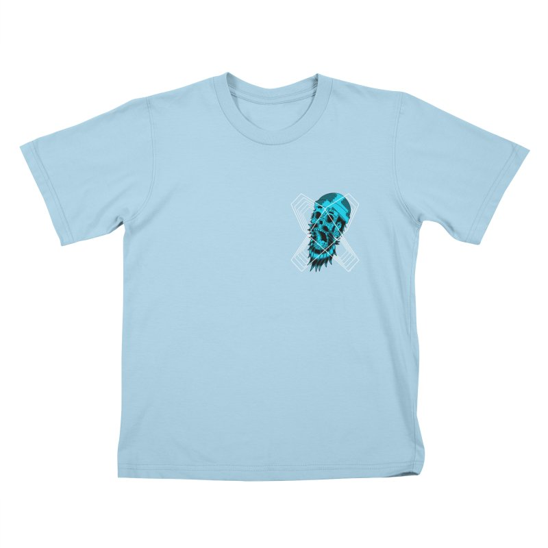 Zombeard 01 chest print Kids T-Shirt by ZOMBIETEETH