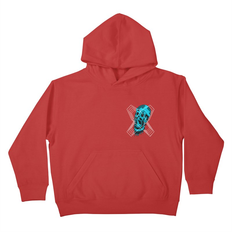 Zombeard 01 chest print Kids Pullover Hoody by ZOMBIETEETH