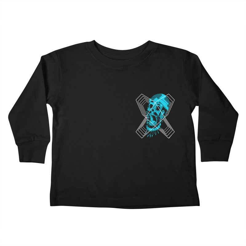 Zombeard 01 chest print Kids Toddler Longsleeve T-Shirt by ZOMBIETEETH