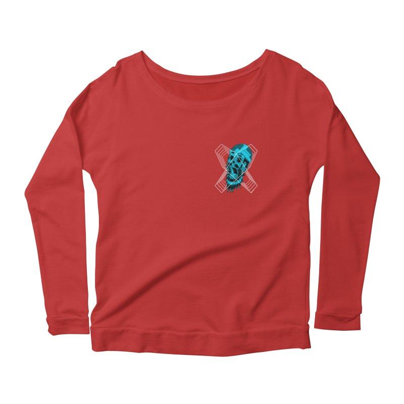Zombeard 01 chest print Women's Scoop Neck Longsleeve T-Shirt by ZOMBIETEETH