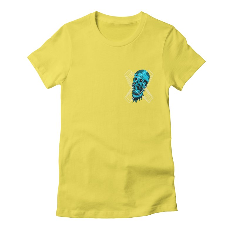Zombeard 01 chest print Women's Fitted T-Shirt by ZOMBIETEETH