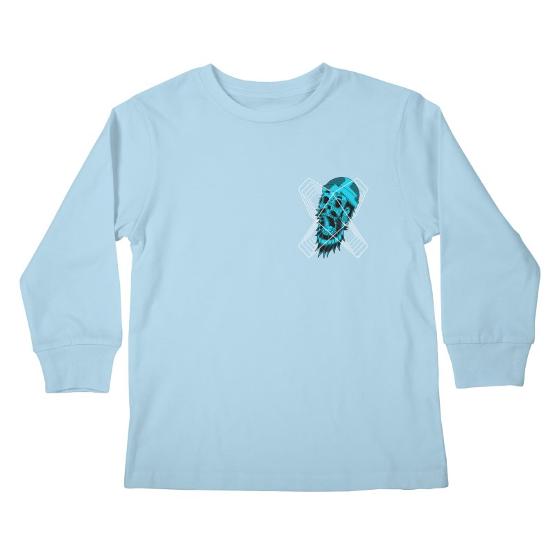 Zombeard 01 chest print Kids Longsleeve T-Shirt by ZOMBIETEETH