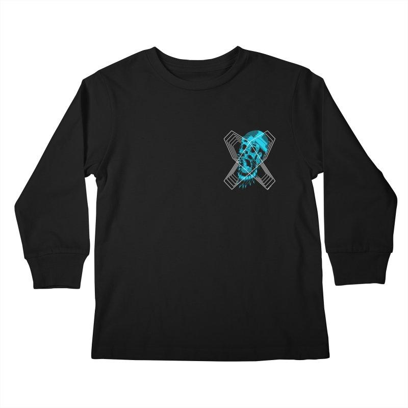 Zombeard 01 chest print Kids Longsleeve T-Shirt by ZOMBIETEETH