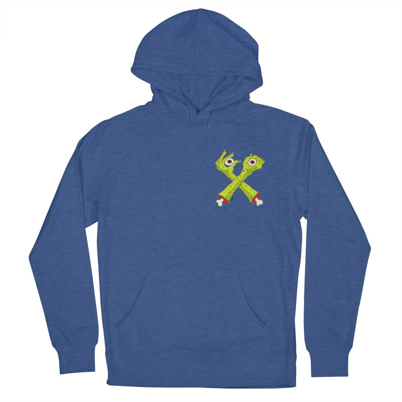 Zombie Arms chest print Women's French Terry Pullover Hoody by ZOMBIETEETH