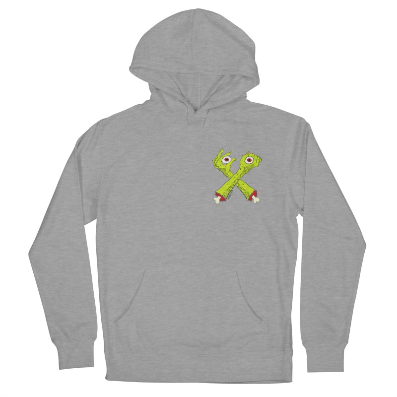 Zombie Arms chest print Men's French Terry Pullover Hoody by ZOMBIETEETH