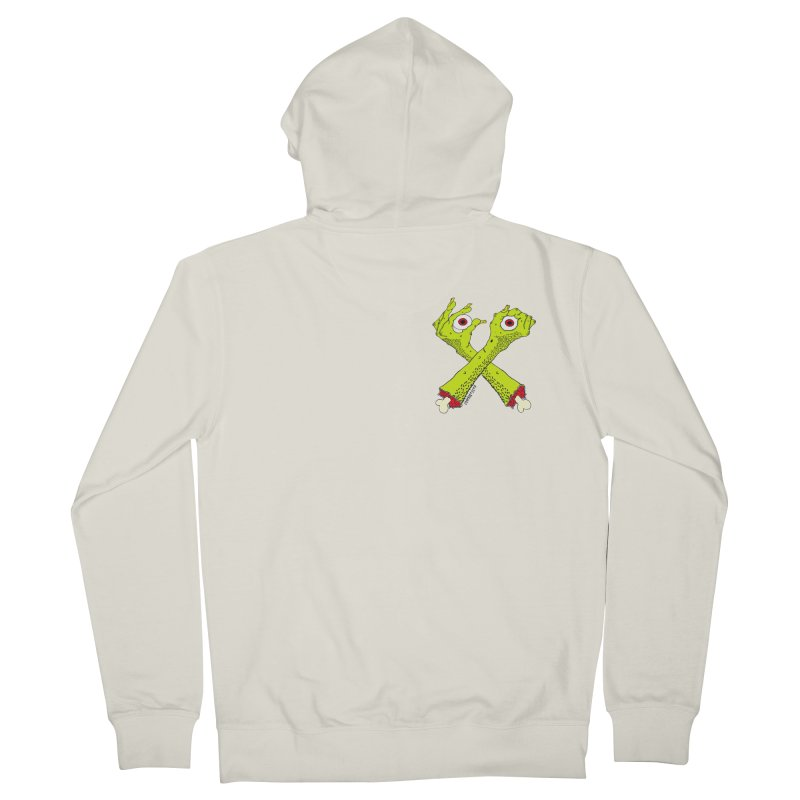 Zombie Arms chest print Women's French Terry Zip-Up Hoody by ZOMBIETEETH